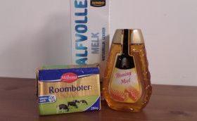 Melk, boter en honing